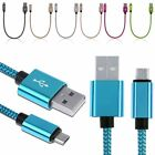 25cm Braided Data Sync Charging Charger Cable Micro USB Cord For Samsung Android