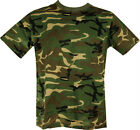 NEW MENS UNISEX MILITARY CAMOUFLAGE CAMO T SHIRT ARMY COMBAT SAS WOODLAND S-5XL