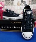 ~NIB~CONVERSE ALL STAR CHUCK TAYLOR BLACK SUEDE TWILIGHT UNISEX M8/W10~144676C~