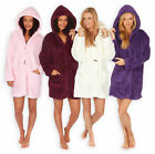 Ladies Hooded Snuggle Fleece Coatigan New Womens Hooded Lounge Cardigan UK 8-22