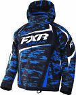 FXR Youth Royal Blue/Charcoal Cascade Helix Insulated Snowmobile Jacket Snow
