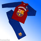 Boys Authentic Official Barcelona FC Football Club Pyjamas Age 4 - 12 Years