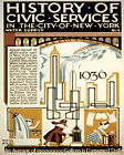 POSTER CIVIC SERVICES 1936 NEW YORK WATER SUPPLY USA VINTAGE REPRO FREE S/H