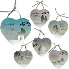 HANGING HEART SHAPE REFLECTIONS MIRROR PLAQUE GIFT HOME 26CM SENTIMENT XMAS NEW