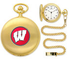 Wisconsin Badgers Pocket Watch Gold or Silver