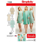 Misses Straight Dress and Collarless Jacket Simplicity Sewing Pattern 1168