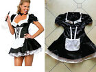 Women Halloween Fancy Party Costume French Maid Mini Dress Clubwear M L XL 2XL