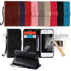 """For iPhone 6 6S 4.7"""" PU Leather 3D Embross Cat Case Cover Flip Tempered Film New"""