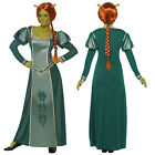Smiffy's Shrek Ladies Princess Fiona Costume Ogre Fancy Dress Outfit