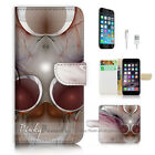 ( For iPhone 7 Plus ) Wallet Case Cover P2969 Abstract