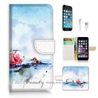 ( For iPhone 7 Plus ) Wallet Case Cover P2972 Ship in Bottle
