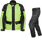 Agrius Columba Jacket & Hydra SHORT Leg Trousers Black Hi-Vis Kit CE Armour WP