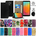 Leather Flip Case Wallet Cover for Samsung Galaxy Phone Models j3 J5 J7 2017