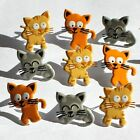 Brads - Bulk - Cute kitty cat kitten pet animal - pk 15 - scrapbooking