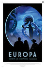 "Europa: Discover Life Under The Ice  - NASA JPL Space Travel Poster (24x36"")"