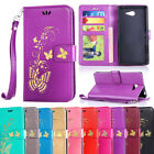 Shockproof PU Leather Kickstand Flip Card Wallet Case Cover For Sony Xperia E5