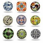 Ceramic Knobs Cupboard Drawer Door Handles Pull Decorated Patterns