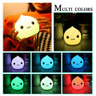 Colorful Cute Soft Silicone Night Light 7 Color Changing Decor Lamp Kids Gift