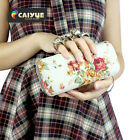 2016 NEW Women  Evening Floral Bag Banquet Party Bag Clutches Ring Hand Bag