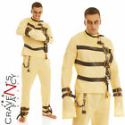 Mens Escape Artist Straight Jacket Fancy Dress Costume Halloween Hannibal New