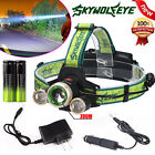 Zoomable 15000LM 3X XM-L T6 LED Rechargeable 18650 Headlamp Headlight  Head Lamp
