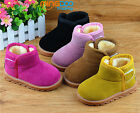 New Winter Toddler Boys Girls Snow Boots Little Kids  Warm Shoes Soft Sole
