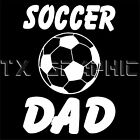 SOCCER DAD DECAL VINYL STICKER VEHICLE GRAPHIC FOTBALL