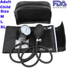 Manual Blood Pressure Monitor Gauge Aneroid Sphygmomanometer Child Adult XL M L