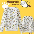 Cute Cat Meow T shirt Japan Game Neko Atsume Sweatshirt Pullover Tops Kawaii