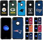 For iPhone 7 Official NFL Fan Case Pebble Shockproof Impact Armor Hard Cover