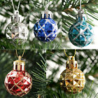 12x Christmas Ornament Shiny Glitter Bauble Balls Hanging Xmas Tree Decoration