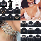 Fashion Ladies Charm Jewelry Pendant Chain Crystal Choker Chunky Necklace Gold
