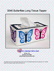 Butterfly Long Style Tissue Box Topper-Plastic Canvas Pattern or Kit