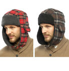 Mens Winter Sherpa Lined Trapper Aviator Hunter Ski Lumberjack Hat