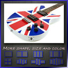 ' Union Jack Flag Electric Guitar ' Modern Contemporary Canvas Art Print Deco