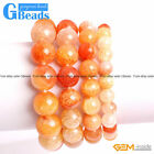 Handmade Pink Crackle Agate Beaded Energy Stretchy Bracelet Free Shipping 7""