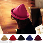HX New Winter Fashion Ctue Fake Wool Women Pointy Hat Bowler Cap