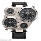HX (With Battery)Fashion Men  Multi Time Zone Casual Gift Campasss Wristwatch