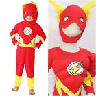 NEW W039 Boy Kids Superhero Red Muscle & Non-Muscle The Flash Costume 2 - 7 Year