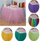 2Pcs Handmade Tulle Tutu Table Skirt for Wedding Party Baby shower Decorations