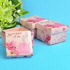 12/24/60 PCS Blooming Flower and Romantic Photo Printed Pink Wedding Favor Box