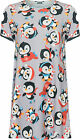 Womens Plus Penguin Xmas Print Top Ladies Short Sleeve Round Neck Long T-Shirt
