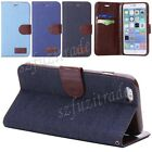 """Flip Jean Stand PU Leather Case Card Holder Wallet Cover For iPhone 6 Plus 5.5"""""""