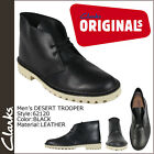 CLARKS ORIGINALS Men's DESERT Trooper Black Leather 62120 NEW IN BOX