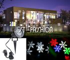 Outdoor Moving Snowflake Landscape Projector Lamp Xmas Garden LED Light Romantic