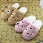 Winter Warm Woman Shoes Cute Bear Home Floor Soft Cotton-padded Slippers Shoes