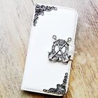 Anchor phone wallet Leather flip case White Card Stand cover For iPhone 6 7 plus