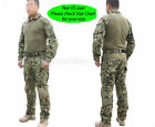 Tactical Emerson Hunting Men Gen2 G2 Combat Uniform Shirt &Pants Suit Pads AOR2