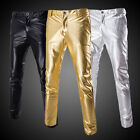 Cool Men's Popular Nightclubs Show Pants Leggings Fashion Trend Glossy Trousers