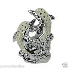 Silver Mille Dolphins Shaped Diamante Resin Home Decoration Gift Ornaments